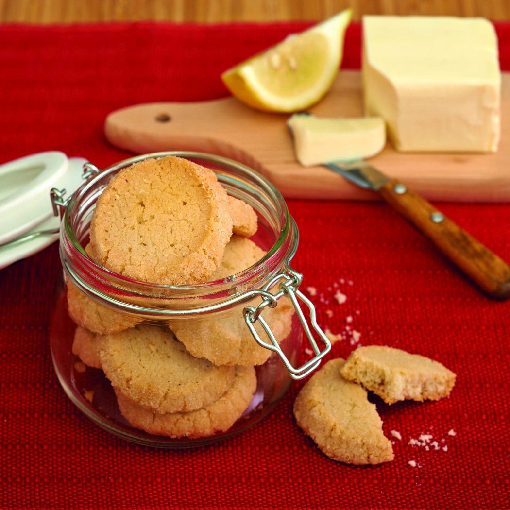 Biscotti al burro bavarese e bergamotto