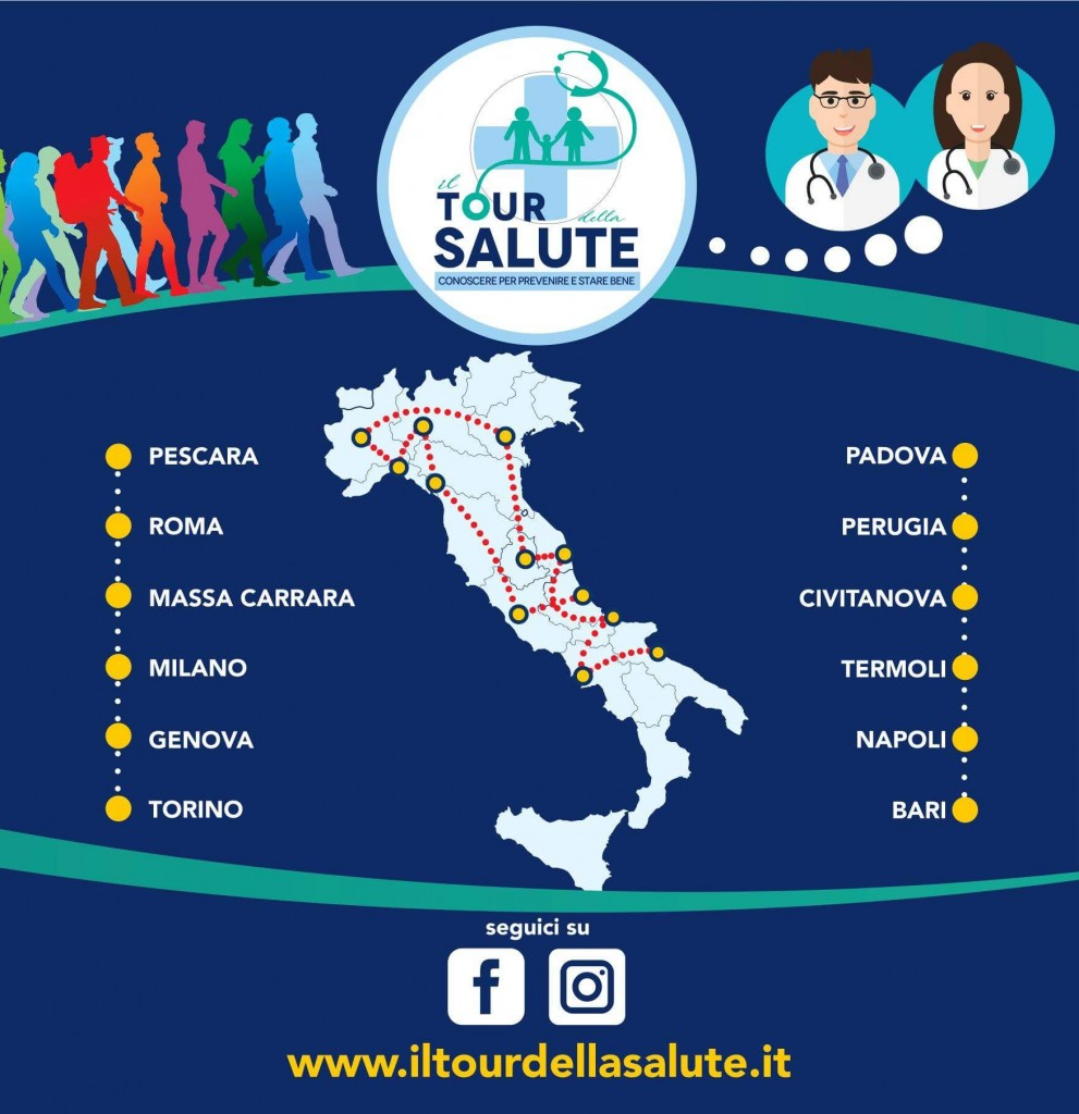 Tour Della Salute E Crescendo In Salute Prevenzione E Benessere In 14 Tappe Voglia Di Salute
