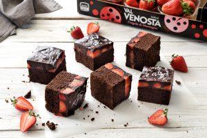 Brownies al cioccolato e fragole...
